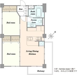 汐見台団地1602棟の間取図