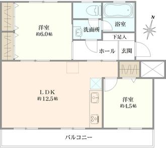 白幡台住宅4号棟の間取図