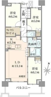 プラウドシティ宮崎台ウエストコートの間取図