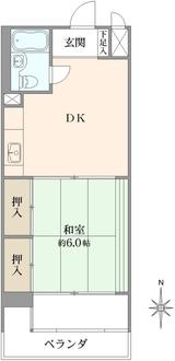 小金井ヘルス・ケア・マンションB棟の間取図