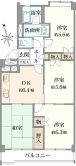 武蔵小金井スカイマンションの間取図