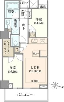 プラウドタワー武蔵小金井の間取図