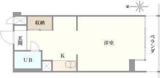 小金井ヘルス・ケア・マンションA棟の間取図