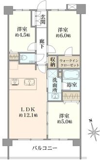 ファインスクェア武蔵小金井の間取図
