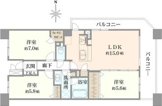 メルローズスクエア武蔵小金井の間取図
