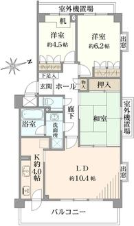 武蔵小金井ヒルズの間取図