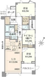 ヴィークコート駒沢の間取図