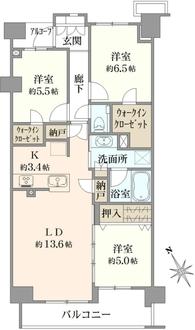 プラウド桜新町の間取図