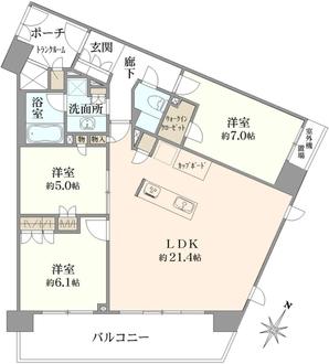 イトーピア世田谷弐丁目の間取図
