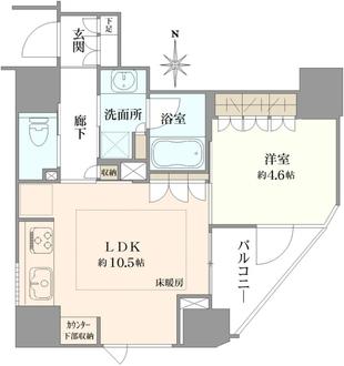 プレミスト新宿都庁前の間取図
