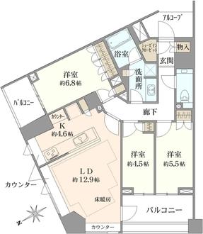 パークハウス玉川岡本の間取図