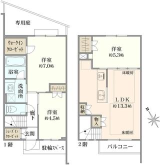 ザ・桜新町テラスの間取図
