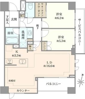 ピアース桜新町の間取図