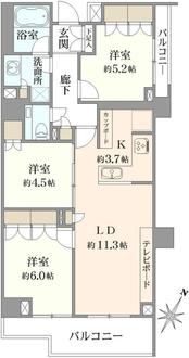 グランドメゾン桜新町の間取図