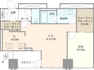 シティタワー新宿新都心の間取図