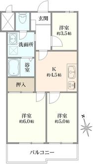 鷺宮プリンスマンションの間取図