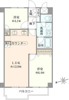 クレッセント武蔵小山IIIの間取図
