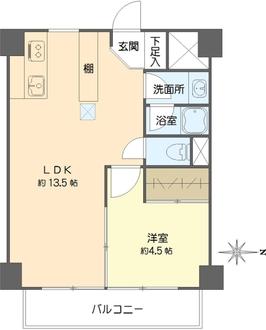 第23宮庭マンションの間取図