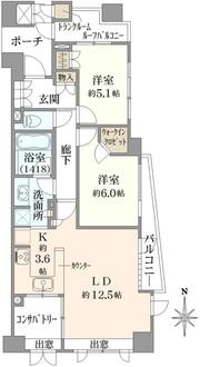 練馬桜台ガーデンハウスの間取図