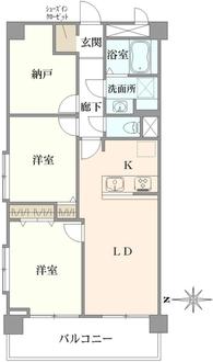 石神井公園ヒミコマンションの間取図