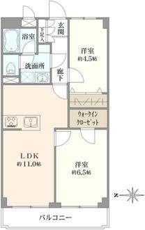 ライオンズマンション豊玉第2の間取図