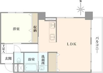 桜台武蔵野マンションの間取図