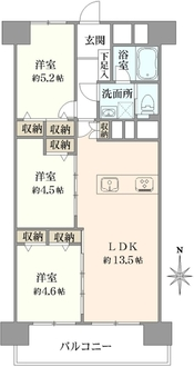 中野本町マンションの間取図