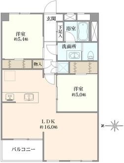 豊玉南住宅の間取図
