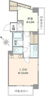 シティマンション東中野の間取図