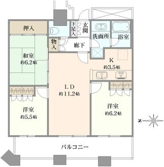 ディアマークスキャピタルタワーの間取図