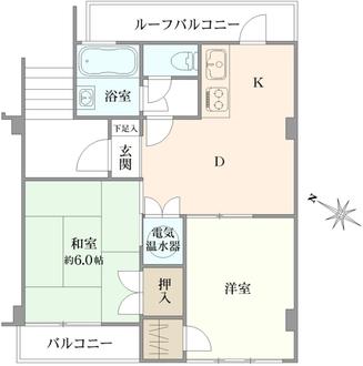 ライオンズマンション富士見台の間取図