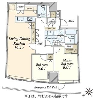 パークコート青山ザ・タワーの間取図