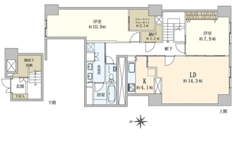 麹町クリスタルシティ 西館の間取図