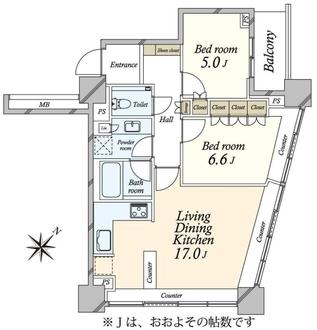 ザ・ヒルトップタワー高輪台の間取図