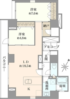moderno torre sho-to モデルノトッレ松濤の間取図