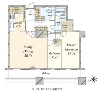 白金タワータワー棟の間取図