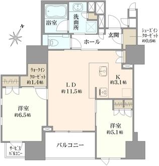 パークホームズ日本橋人形町ザ・レジデンスの間取図