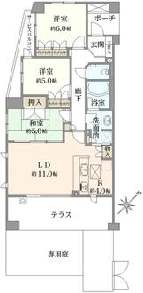 パルテール富士見ヶ丘の間取図