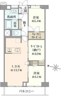 芦花公園スカイハイツの間取図