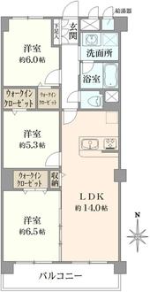 日商岩井芦花公園マンションの間取図