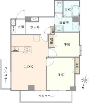 芦花公園ヒミコマンションの間取図