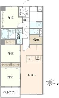 四谷軒第1経堂シティコーポの間取図