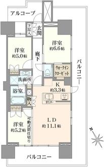 グランドメゾン江古田の杜の間取図