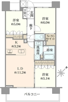 クリオ東神奈川の間取図
