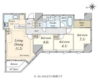プラウドタワー白金台の間取図