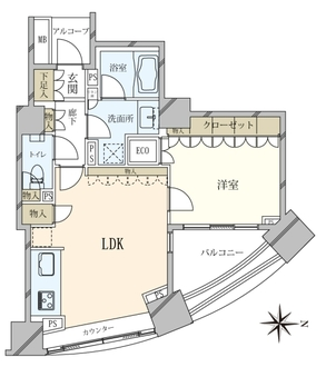 パークハウス オー・タワーの間取図