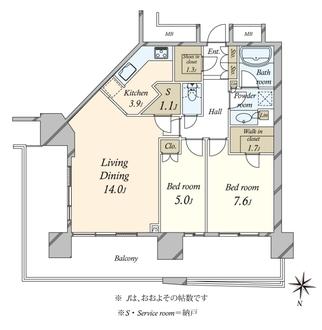 アーバンドック パークシティ豊洲 タワーAの間取図