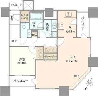 カテリーナ三田タワースイートイーストアークの間取図
