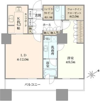 東京ツインパークスライトウイングの間取図