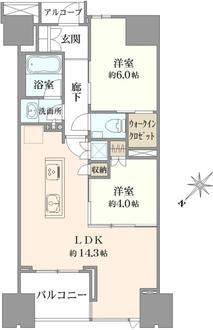 ザ・パークハウス日本橋大伝馬町の間取図